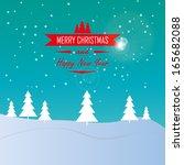 merry christmas landscape  ... | Shutterstock .eps vector #165682088