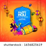 happy holi colorful posters... | Shutterstock .eps vector #1656825619