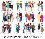 people groups and couples... | Shutterstock .eps vector #1656846220
