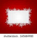 Red Christmas Background With...