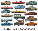 retro cars and vintage rarity...   Shutterstock .eps vector #1656850630