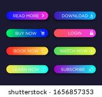 set of vector modern gradient... | Shutterstock .eps vector #1656857353