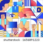 geometric colorful seamless... | Shutterstock .eps vector #1656891223