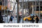 New York City 2019  People Walk ...