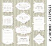 vintage frame set. calligraphic ... | Shutterstock .eps vector #165690398