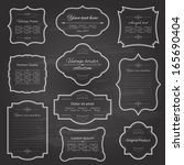 vintage frame set on chalkboard ... | Shutterstock .eps vector #165690404