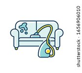 furniture dry cleaning blue and ...   Shutterstock .eps vector #1656906010