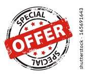 special offer red rubber stamp... | Shutterstock .eps vector #165691643