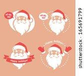 set of four badges with santa... | Shutterstock .eps vector #165691799