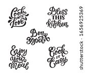 set of five hand lettered... | Shutterstock .eps vector #1656925369