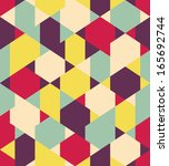 vector color geometric seamless ... | Shutterstock .eps vector #165692744