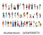 a group of people walk and...   Shutterstock .eps vector #1656930073