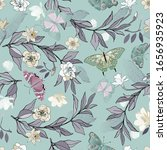 seamless vector pattern with... | Shutterstock .eps vector #1656935923