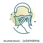 personal hygiene   cover mouth... | Shutterstock .eps vector #1656948946