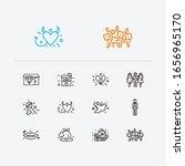 romance icons set. broken heart ...   Shutterstock .eps vector #1656965170