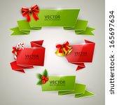 christmas banners set | Shutterstock .eps vector #165697634