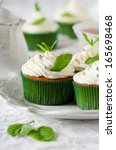 Sweet Mint Cupcake With Cream ...