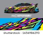 racing car wrap decal...   Shutterstock .eps vector #1656986293
