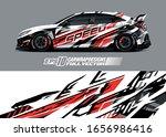 racing car wrap decal... | Shutterstock .eps vector #1656986416