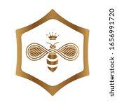 logo design queen bee isolated...   Shutterstock .eps vector #1656991720