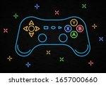 neon game controller for video... | Shutterstock .eps vector #1657000660