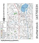 Vector map with summits, rivers, railroads, streets, lakes, parks, airports, stadiums, correctional facilities, military installations and federal lands by zip code 33714 with labels and clean layers.