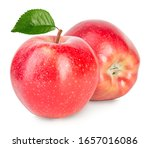 Red Apples With Green Leaves...
