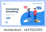 web page design with connection ... | Shutterstock .eps vector #1657022503