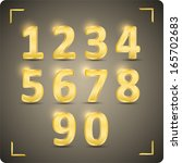 3d set of  vector numbers  from ... | Shutterstock .eps vector #165702683