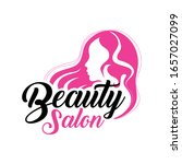 beauty salon logo design modern | Shutterstock .eps vector #1657027099
