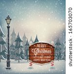 signboard with christmas... | Shutterstock .eps vector #165703070