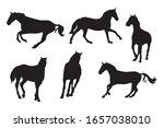 Race Horses Silhouettes Kit....