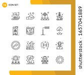 16 icon set. line style icon...   Shutterstock .eps vector #1657041889