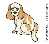 cute cartoon cocker spaniel...   Shutterstock .eps vector #1657042846