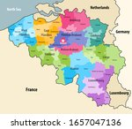 belgium administrative... | Shutterstock .eps vector #1657047136