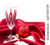 red christmas ball with glass | Shutterstock . vector #165704759