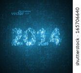 new year celebration vector...   Shutterstock .eps vector #165706640