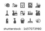 cleaning icons. laundry  window ... | Shutterstock . vector #1657073980