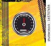 tire tracks over  background... | Shutterstock .eps vector #165707654