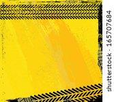 tire tracks over  background... | Shutterstock .eps vector #165707684