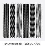 tire tracks over  background... | Shutterstock .eps vector #165707708