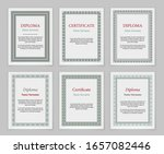 decorative frames and borders.... | Shutterstock .eps vector #1657082446