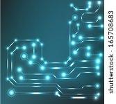 eps10 vector circuit board... | Shutterstock .eps vector #165708683