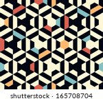 seamless vector geometric strip ... | Shutterstock .eps vector #165708704