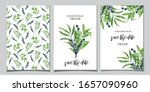 watercolor set of frames with... | Shutterstock . vector #1657090960