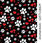 dog paw with hearts of love   Shutterstock .eps vector #1657118629