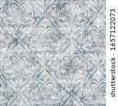 Seamless Old Damask Pattern In...