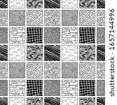 vector  doodle tile pattern.... | Shutterstock .eps vector #1657144996