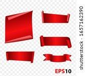banner  template badge ribbon... | Shutterstock .eps vector #1657162390