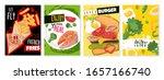 healthy food banners in cartoon ...   Shutterstock .eps vector #1657166740